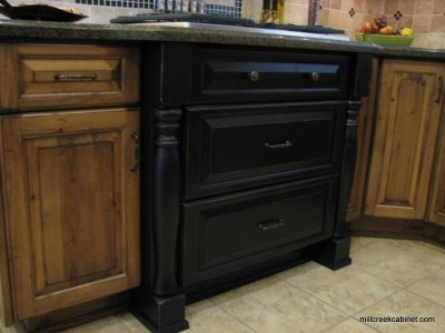 Black Kitchen Cabinet W Legs Furniture And Decor Pinterest