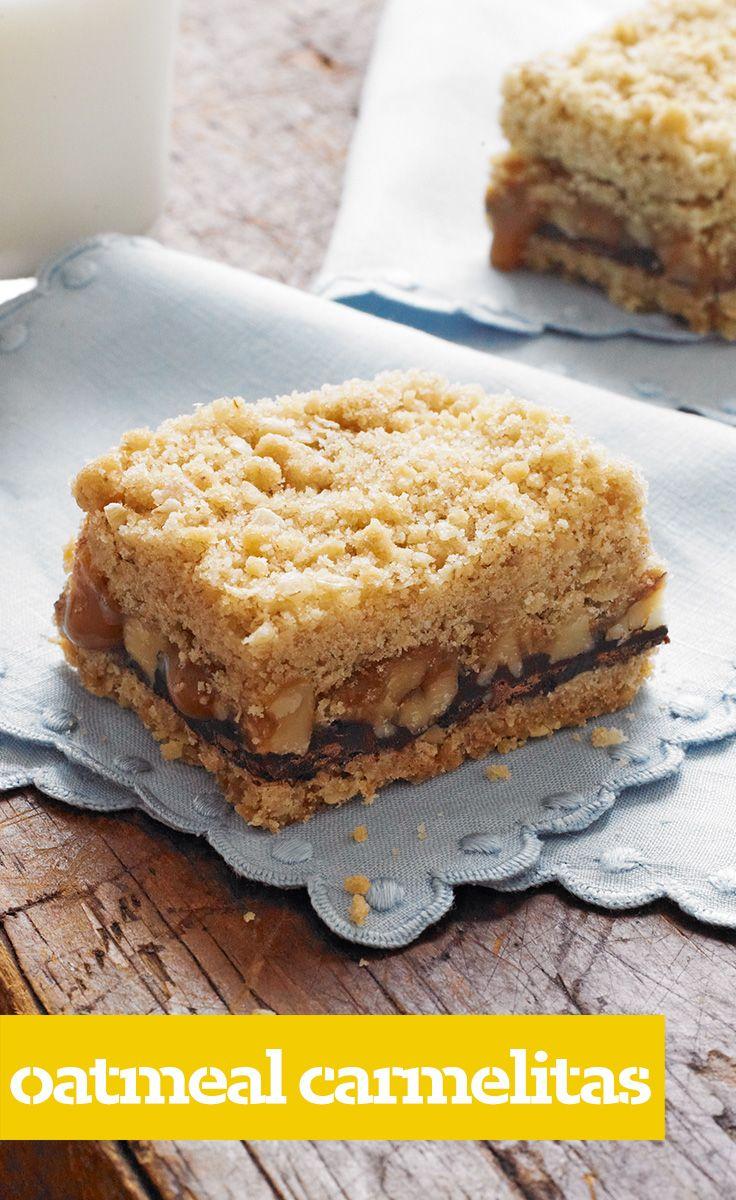 Oatmeal Carmelitas | Potluck Recipes | Pinterest
