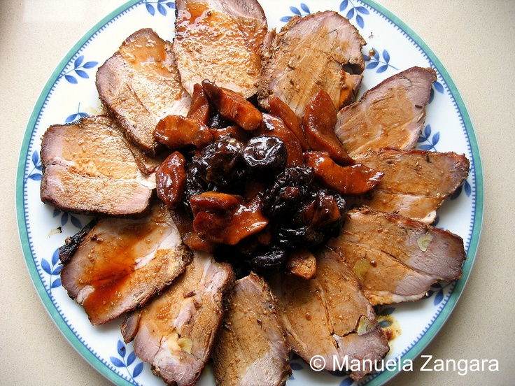 Pork Roast with Apples and Prunes