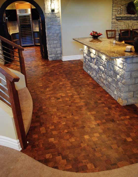End Grain Wood Flooring House Pinterest