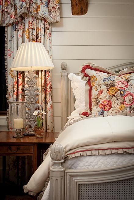 love the double welt; gathered corners too; and love the box pleat trim on the draperies and duvet