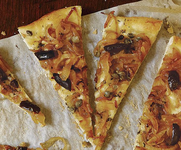 Rustic Onion Tart with Olives, Capers, and Anchovies | Recipe