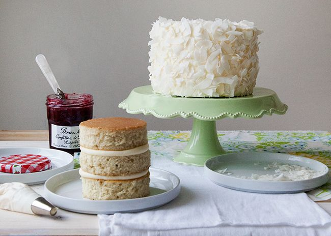 Raspberry Coconut Layer Cake