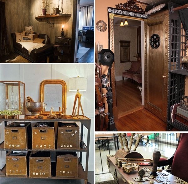 Steampunk interior design and fittings for the house for Steampunk house design