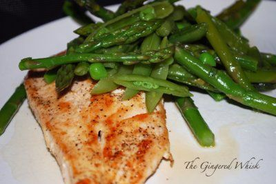 Chicken Scallopini with Sugar Snap Pea, Asparagus, and Lemon Salad