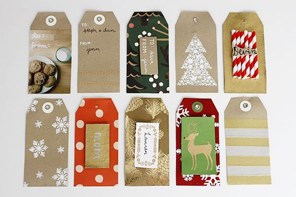 10 diy holiday gift tag ideas pretty packaging pinterest