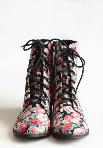 cute floral printed shoes