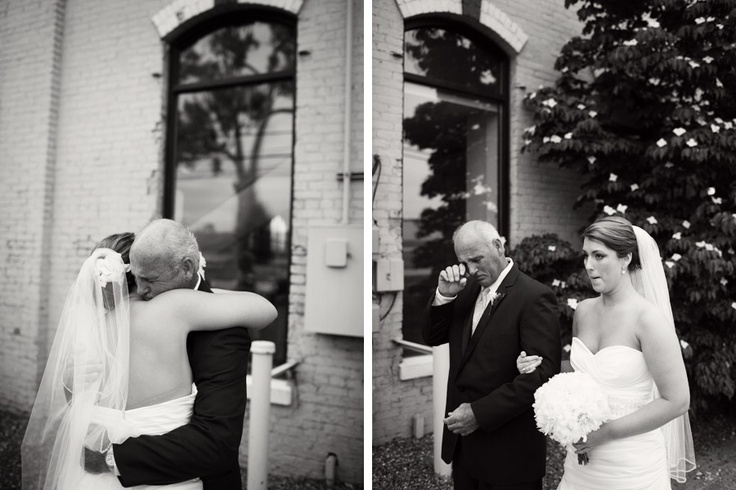 sometimes, it's not all about the bride and the groom but their departure from their parents