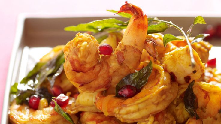 Pomegranate Shrimp With Curry Leaves recipe from www.npr.org