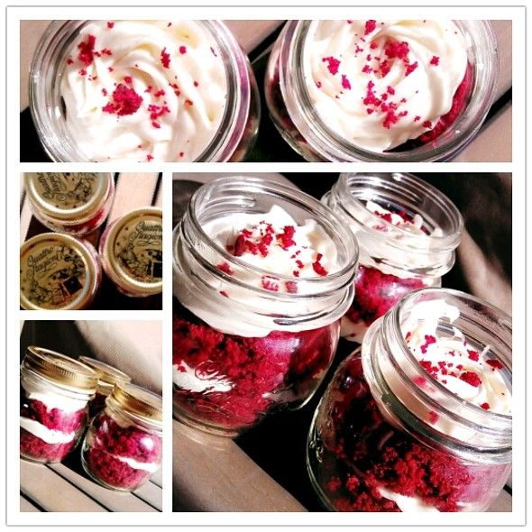 """Red Velvet Cupcake """"In A Jar"""" @ Reish 