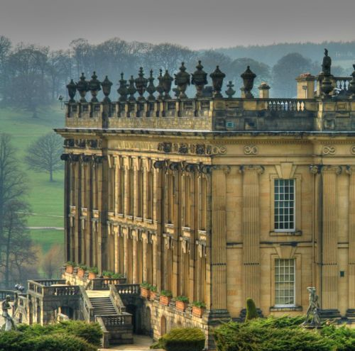 Chatsworth House in North Derbyshire, England - the inspiration for Pemberly, owned by Mr. Darcy