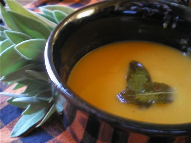 Butternut Squash Soup With Sage. Photo by *MessyPessy*