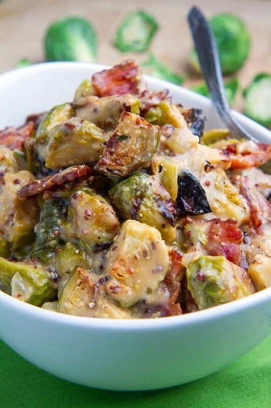 roasted brussels sprouts w/ bacon   Scrumptious Sides   Pinterest