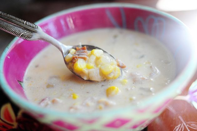 pioneer woman's corn chowder with chilies