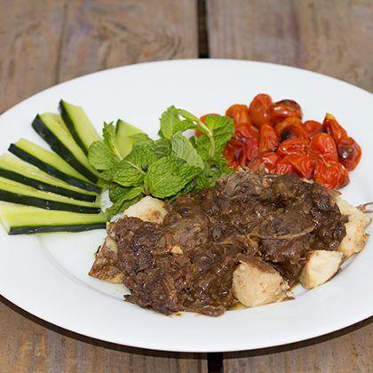 Thai-style Braised Pork Cheeks Recipe — Dishmaps
