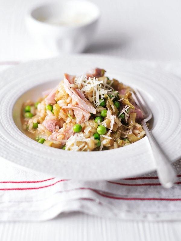 Ham, leek and tarragon risotto #food #recipe