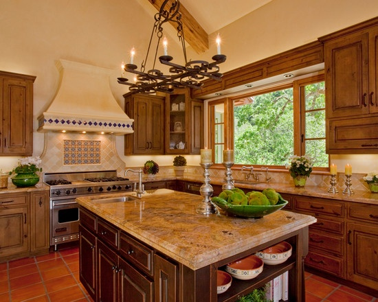 Mediterranean Kitchen Design For The Home Pinterest