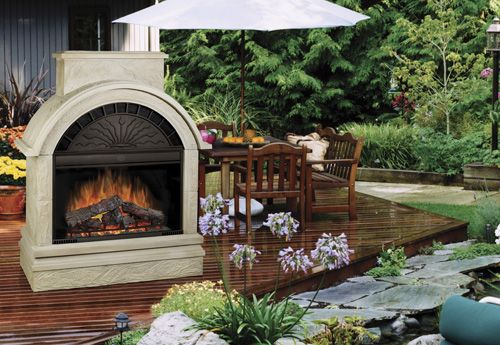 Outdoor Electric Fireplace Sunrooms Porches Patios Pinterest