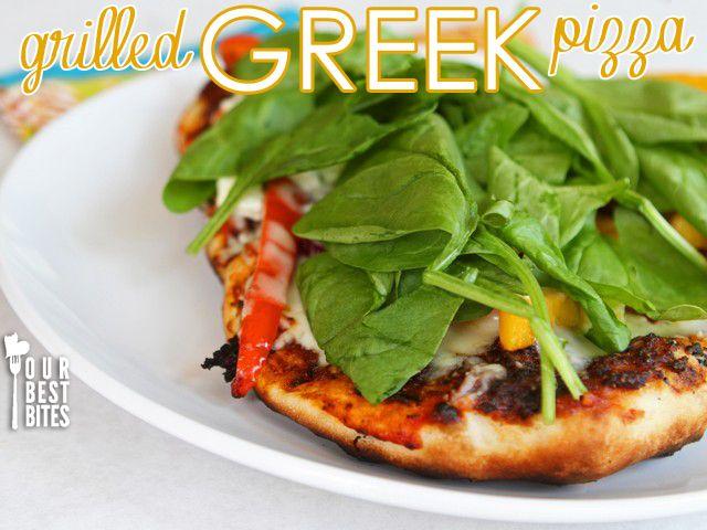 Grilled Greek Pizza | Pizza | Pinterest
