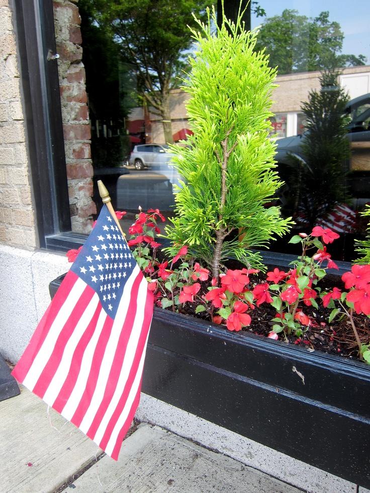 memorial day flag planting