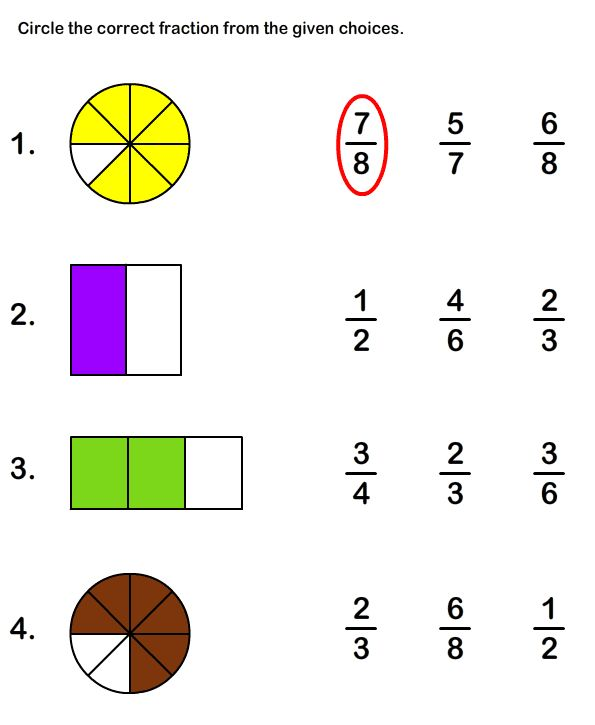 Fraction worksheets for grade 4 online