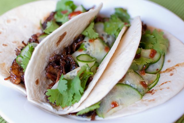 Crockpot Korean short rib tacos without the flour tortilla of course