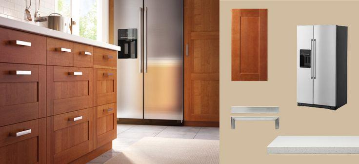 AKURUM kitchen with ÄDEL medium brown  | Dream Home, DIY Projects,…