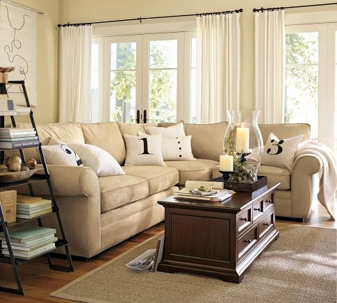 living room from pottery barn new home inspiration