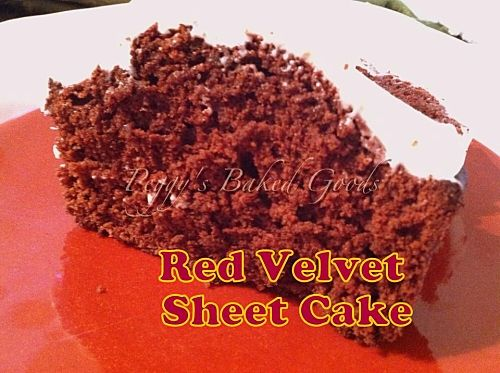 Red Velvet Sheet Cake - Always a popular choice for any occasion ...