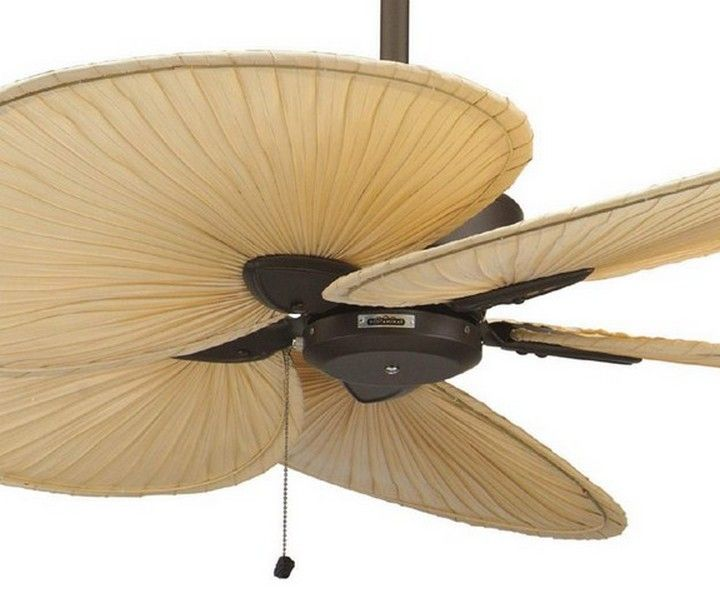 Palm Leaf Ceiling Fan With Light