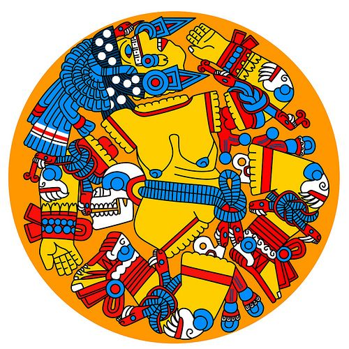 coyolxauhqui aztec goddess of the moon genesis pinterest