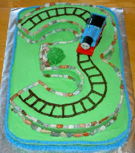 Images Of Train Birthday Cakes : Third Birthday - Thomas the train cake Caden Pinterest