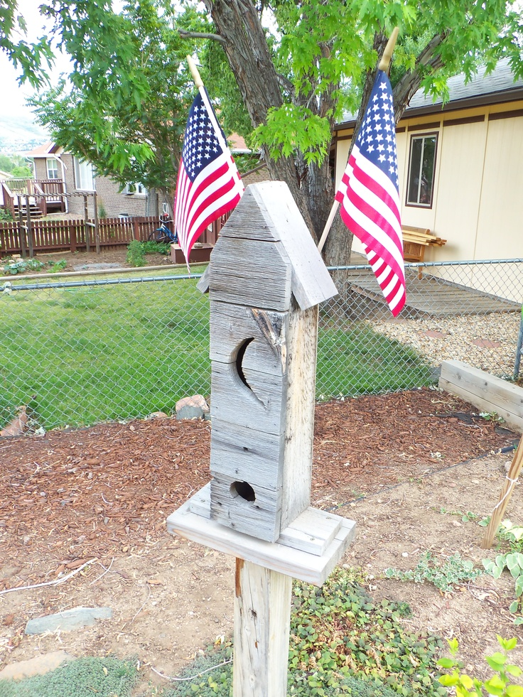 Bird house made from old barn wood crafts pinterest - Old barn wood bird houses ...
