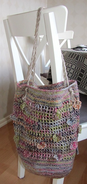 Crochet Mesh Bag Pattern : Pretty Crochet Mesh Bag: free pattern