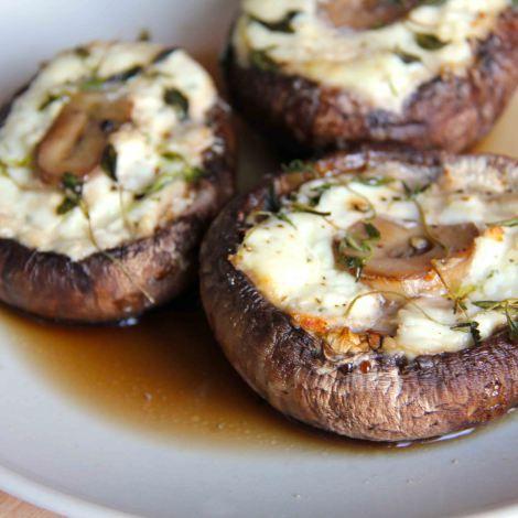 Cheese Stuffed Portabella Mushrooms | get in my belly | Pinterest