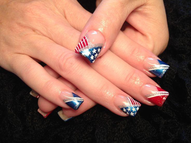Red white & blue | Redneck Nailz nail art | Pinterest
