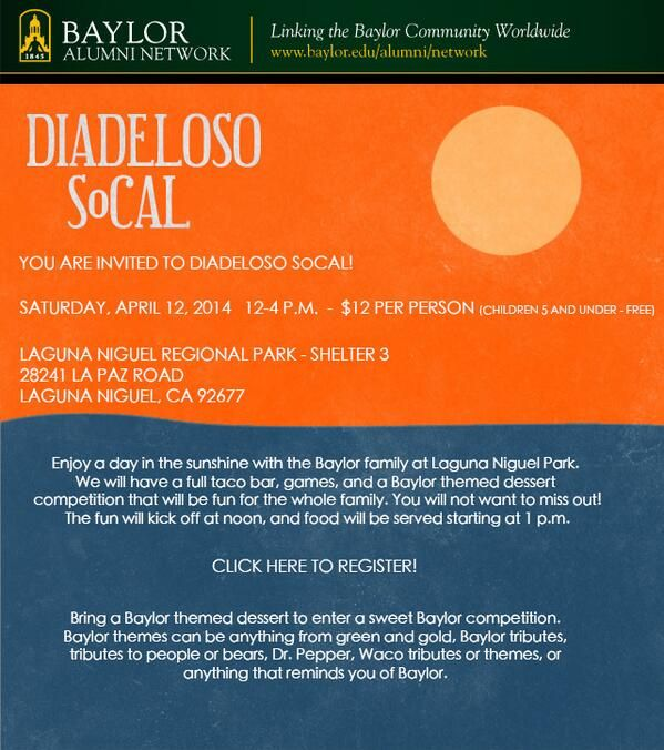 Diadeloso comes to SoCal! #BaylorDia14 #SicEm