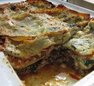 ... and mushroom lasagna creamy spinach and mushroom lasagna recipe yummly