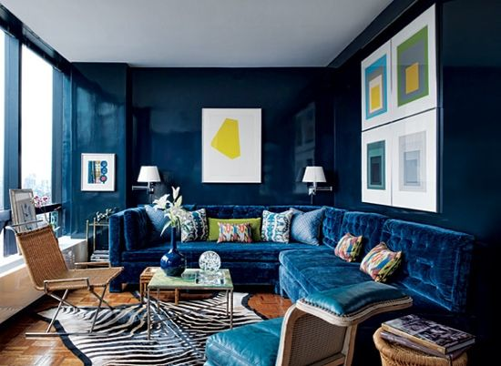 blue room yellow accents