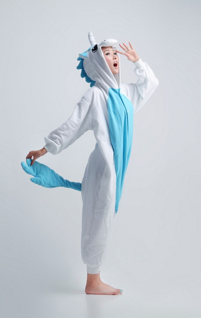blue unicorn animal adult kigurumi onesie