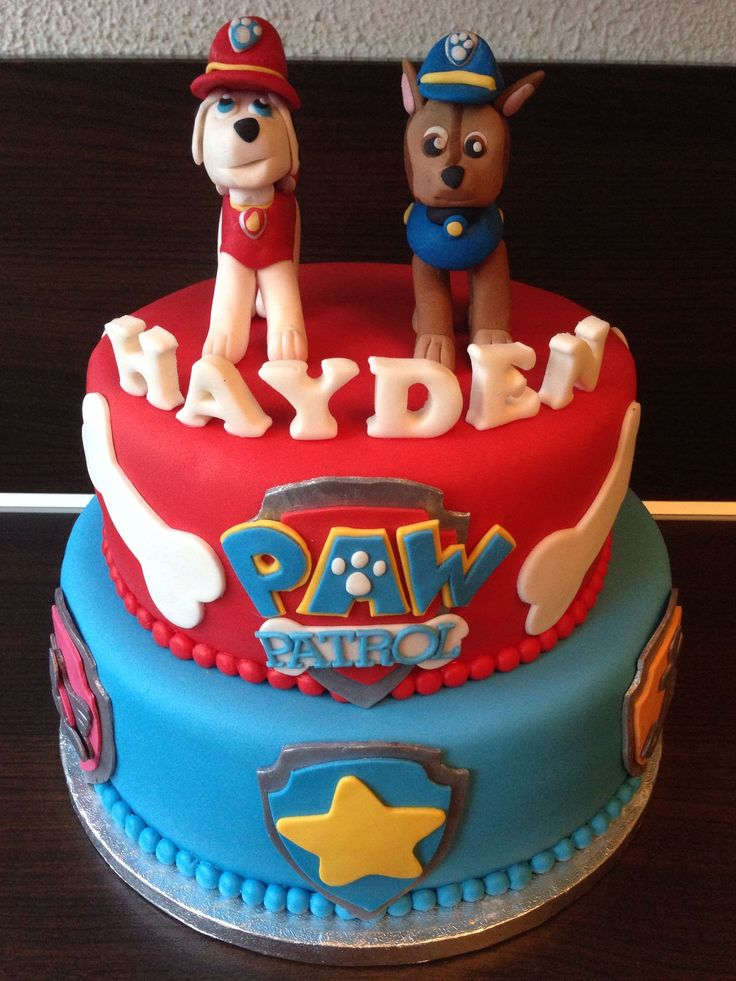 paw patrol cake design