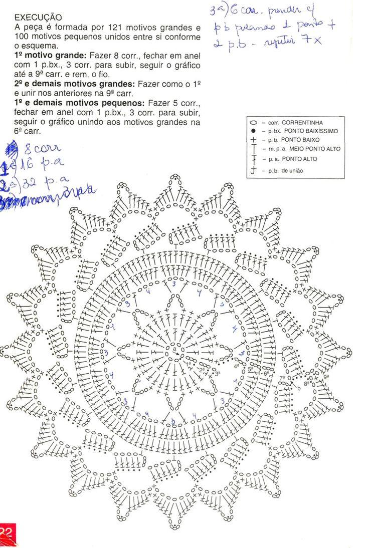 Как связать ажурный мотив круг вязание крючком для новичков со схемами 78