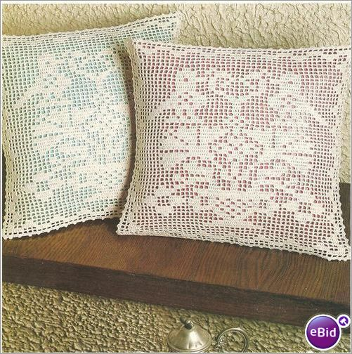 Crochet Pillow Pattern Folk Art Sparrows on eBid New Zealand