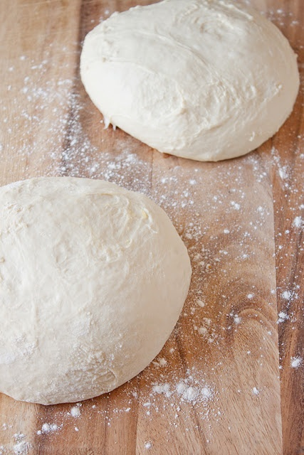 An easy no knead pizza dough that's ready in 5 minutes.   besides ...