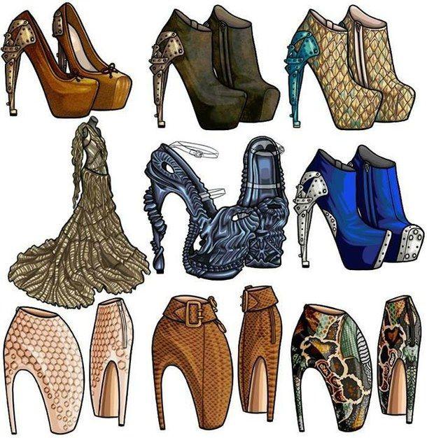 drawing fashion girl shoes sketches � �fashion