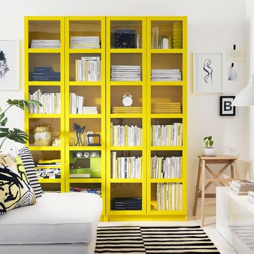 Yellow Billy bookcase