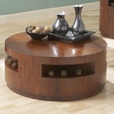 "Steve Silver Furniture""Orbit Cocktail Table in Multi-Step Cherry"