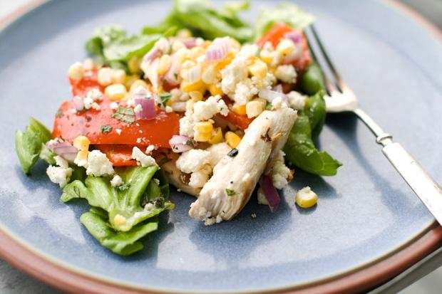 Grilled Greek Chicken Salad   Recipes   Pinterest