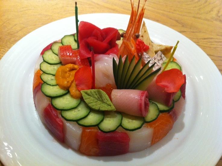 Morimoto Sushi Birthday Cake seria un lindo topping para un pastel de ...