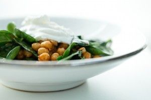 harissa chickpeas with spinach | I must cook this | Pinterest